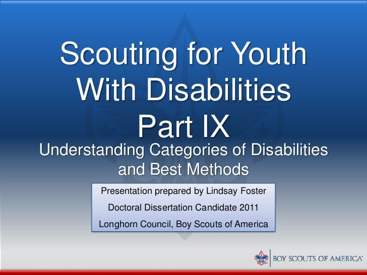 Scout commissioner phd thesis