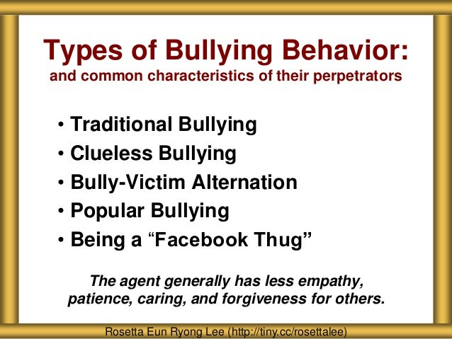 what are some common characteristics of bullies