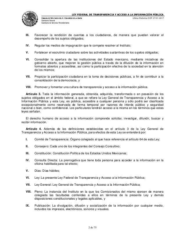 Ley federal de transparencia y acceso a la informaci n p blica for Oficina de transparencia y acceso ala informacion