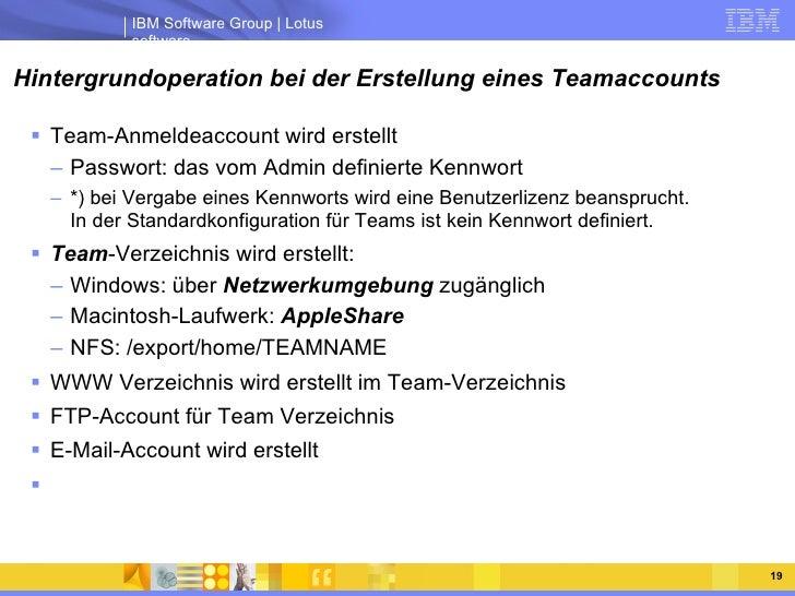 Hintergrundoperation bei der Erstellung eines Teamaccounts <ul><li>Team-Anmeldeaccount wird erstellt </li></ul><ul><ul><li...