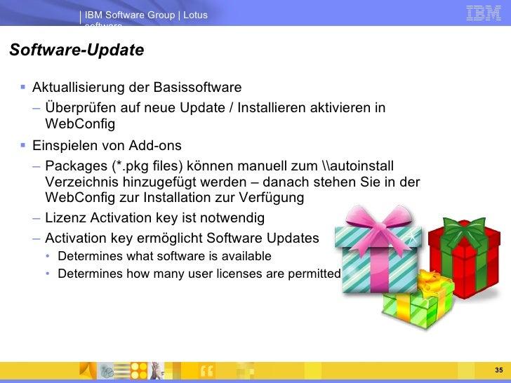 Software-Update <ul><li>Aktuallisierung der Basissoftware </li></ul><ul><ul><li>Überprüfen auf neue Update / Installieren ...