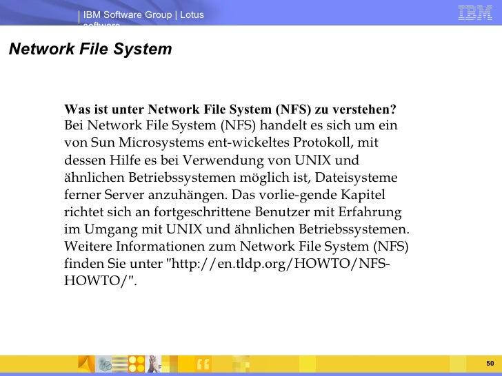 Network File System Was ist unter Network File System (NFS) zu verstehen?  Bei Network File System (NFS) handelt es sich u...