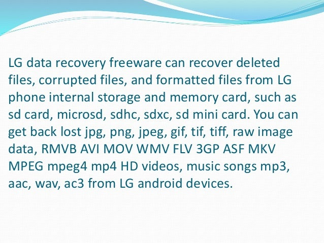 Download LG data recovery free to undelete photos video