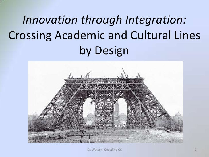 Innovation through Integration:Crossing Academic and Cultural Lines by Design<br />1<br />KA Watson, Coastline CC<br />