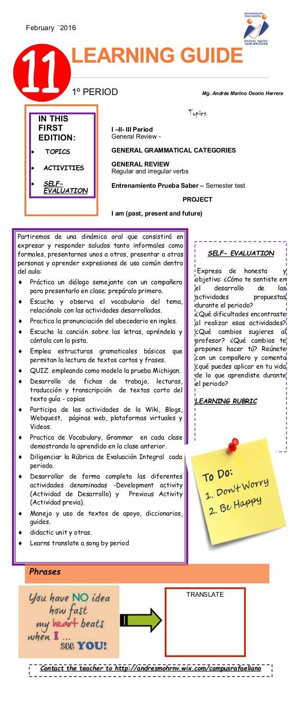 LEARNING GUIDE Partiremos de una dinámica oral que consistirá en expresar y responder saludos tanto informales como formal...