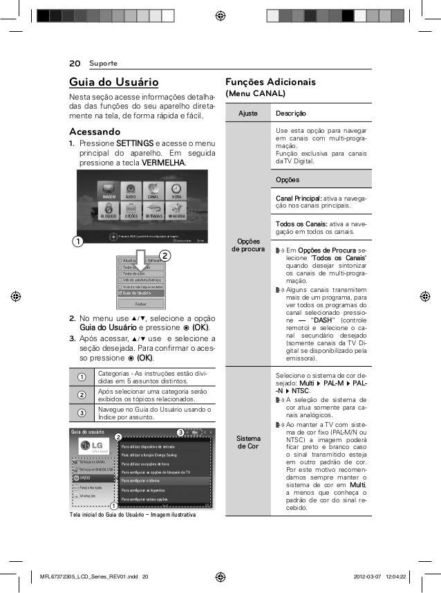 LG 32LM3400 Manual de Instruções da Televisão
