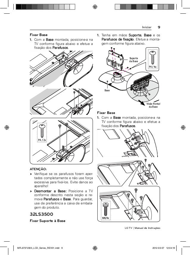 LG 32LS3400 Manual de Instruções da Televisão