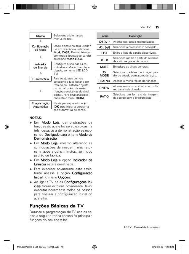 LG 42LM3400 Manual de Instruções da Televisão
