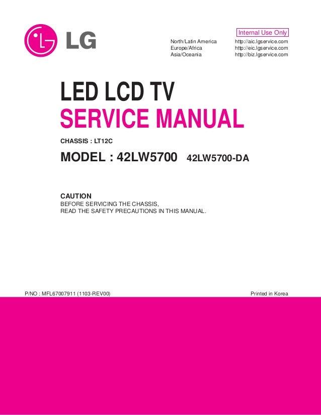 Lg 42lw5700 da-chassis_lt12c_mfl67007911_1103-rev00
