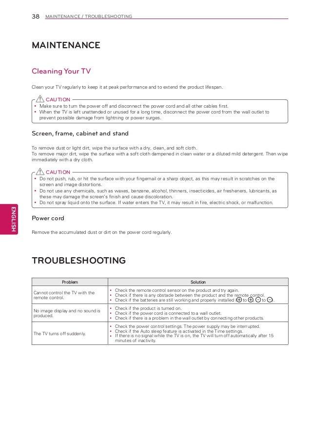 Lg47la6200 manual