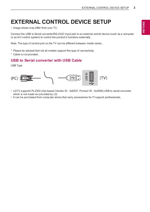 RC: LG TV with RS232C Mini Jack