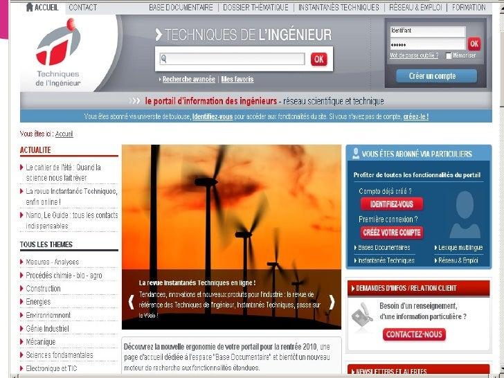 OUTILS DE RECHERCHE GC/2010