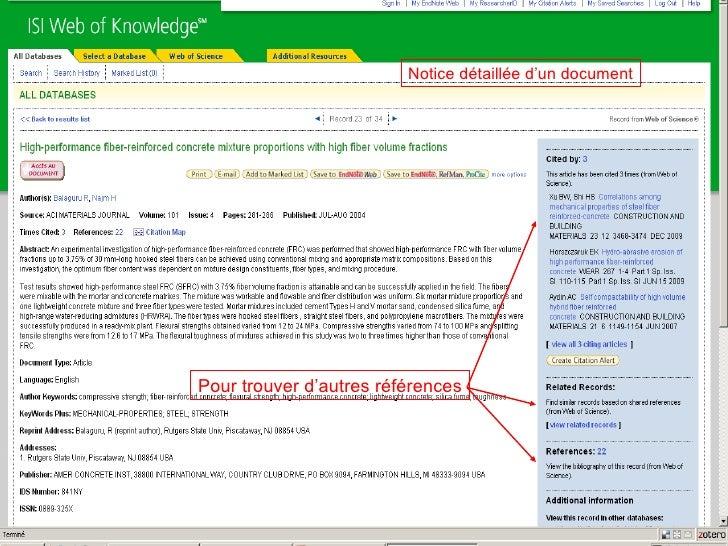 Pour trouver d'autres références Notice détaillée d'un document