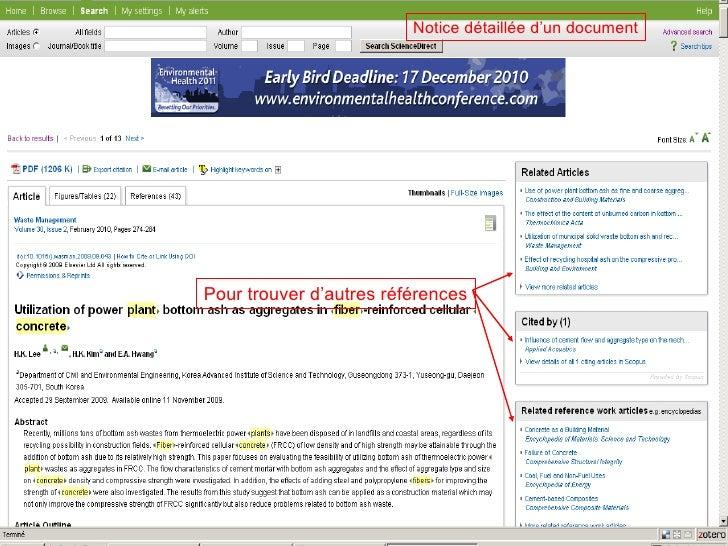 Notice détaillée d'un document Pour trouver d'autres références