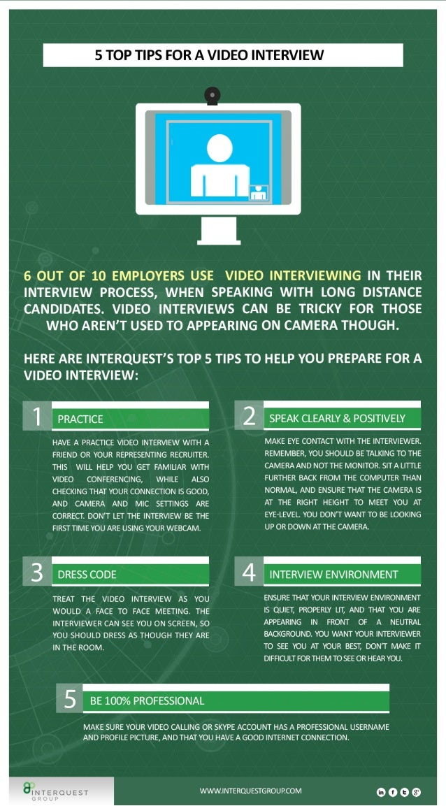 Interview Advice: 5 Top Tips for a Video Interview