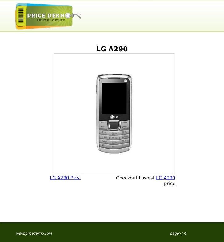 LG A290                 LG A290 Pics       Checkout Lowest LG A290                                                       p...