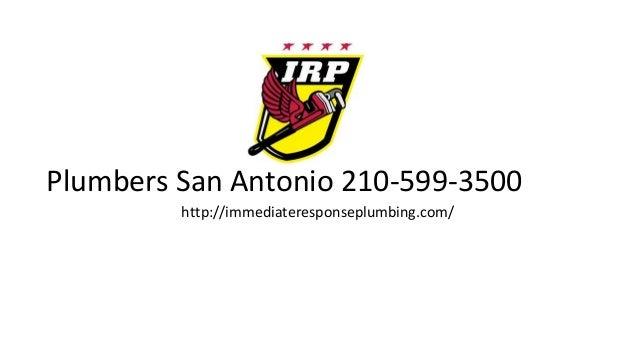 Plumbers San Antonio Tx 210 599 3500