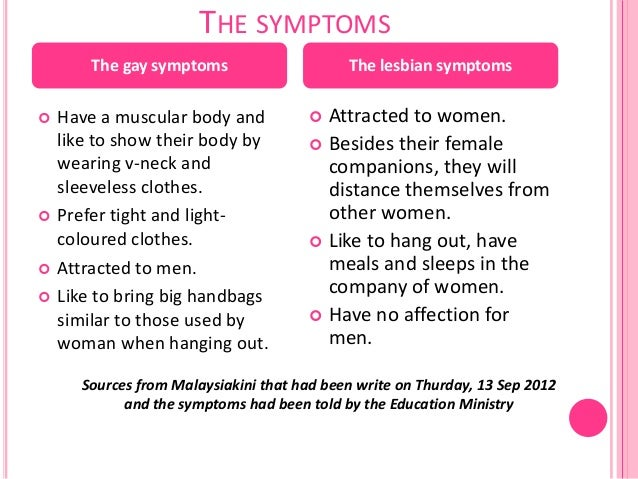 Symptoms of gay husband