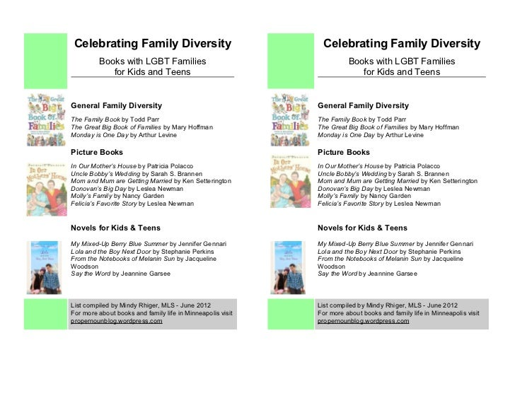 Celebrating Family Diversity                                Celebrating Family Diversity         Books with LGBT Families ...