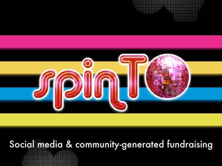 Social media & community-generated fundraising