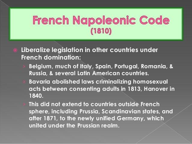 Code napoleon homosexuality statistics