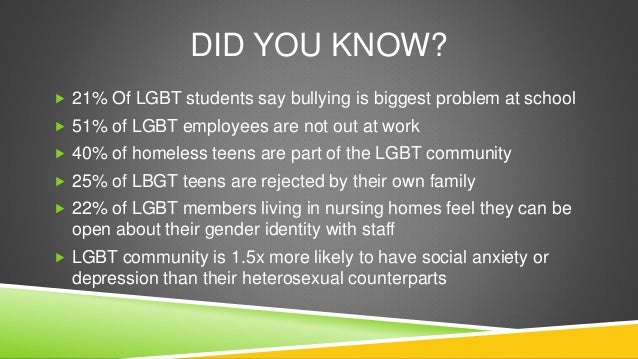 Anti gay bullying essay