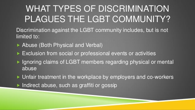 Discrimination/Discrimination Against Gays term paper 6532