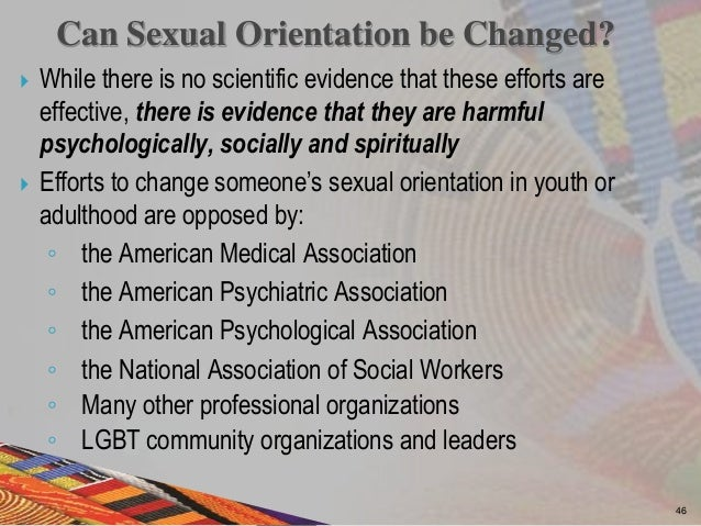 American psychological association sexual orientation change efforts