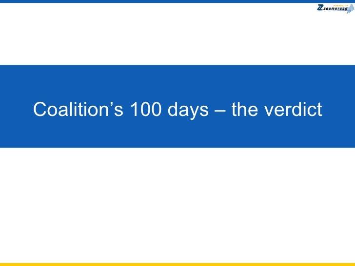Coalition's 100 days – the verdict