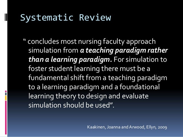 systematic review of the literature on simulation in nursing education Factors contributing to perioperative medication errors: a systematic literature review factors contributing to perioperative medication errors: a systematic literature review.