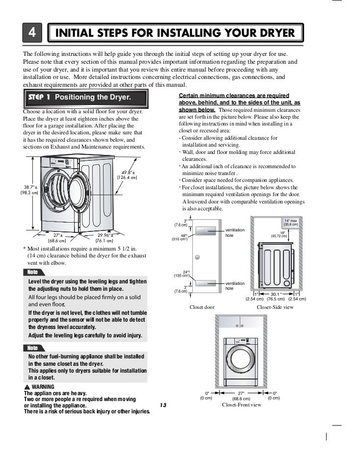 lg commercial front end dryer user manual rh slideshare net lg dryer manual dle2514w lg dryer manual pdf