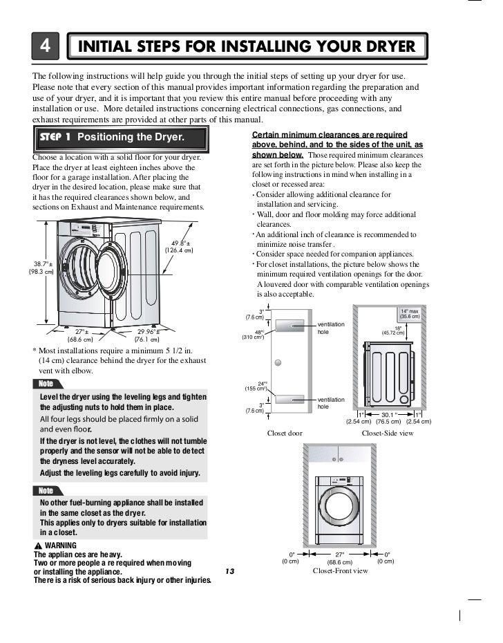lg commercial front end dryer user manual rh slideshare net lg tumble dryer user manual lg truesteam dryer user manual