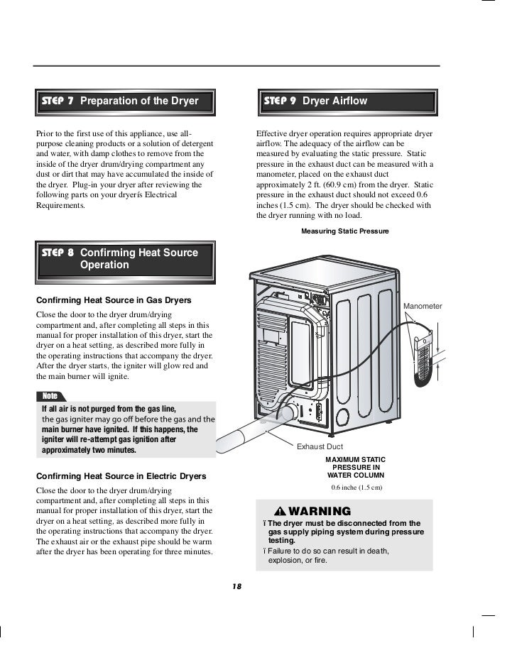 Clothes dryer manuals free download clothes installation.