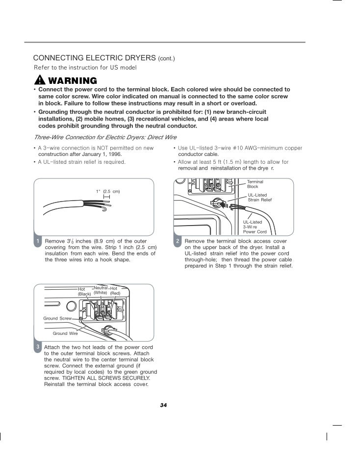 LG Commercial Front End Dryer User Manual