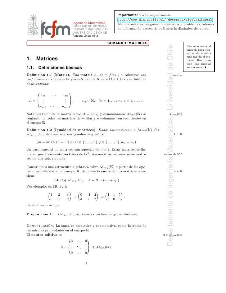 áLgebra lineal [u de chile]