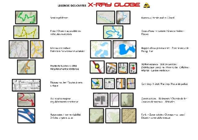 Légende des cartes X-Ray