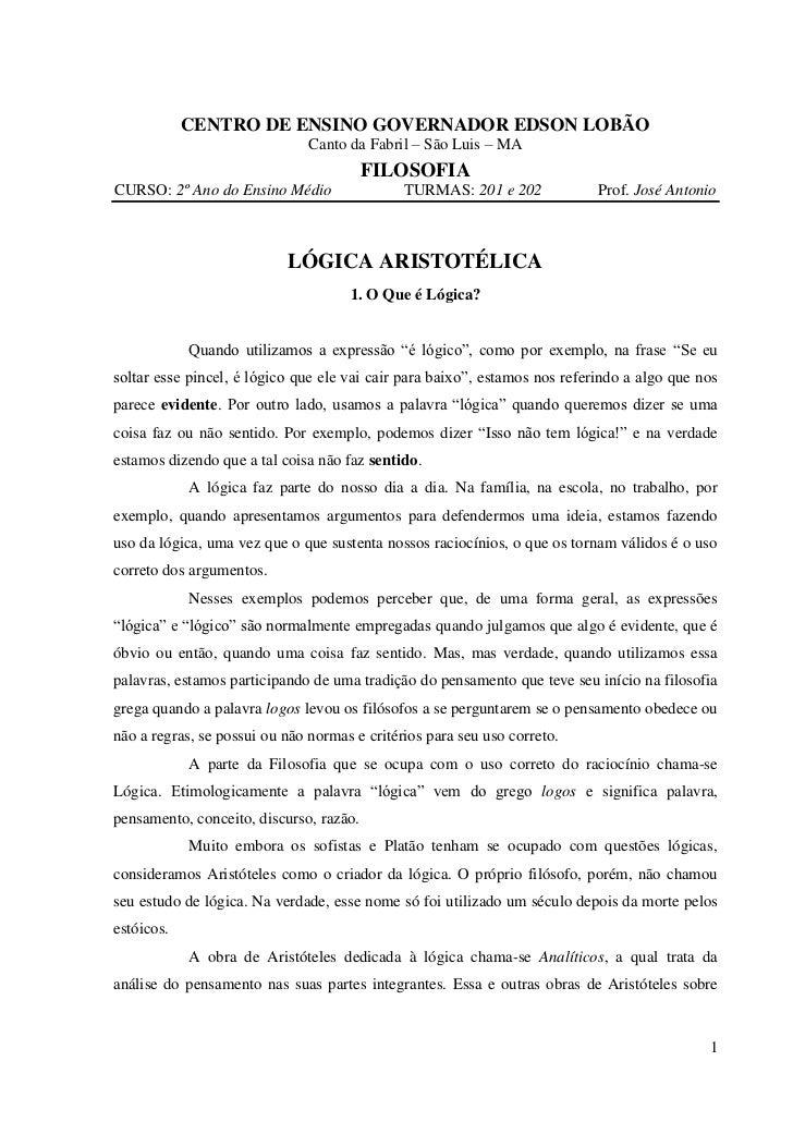 CENTRO DE ENSINO GOVERNADOR EDSON LOBÃO                               Canto da Fabril – São Luis – MA                     ...