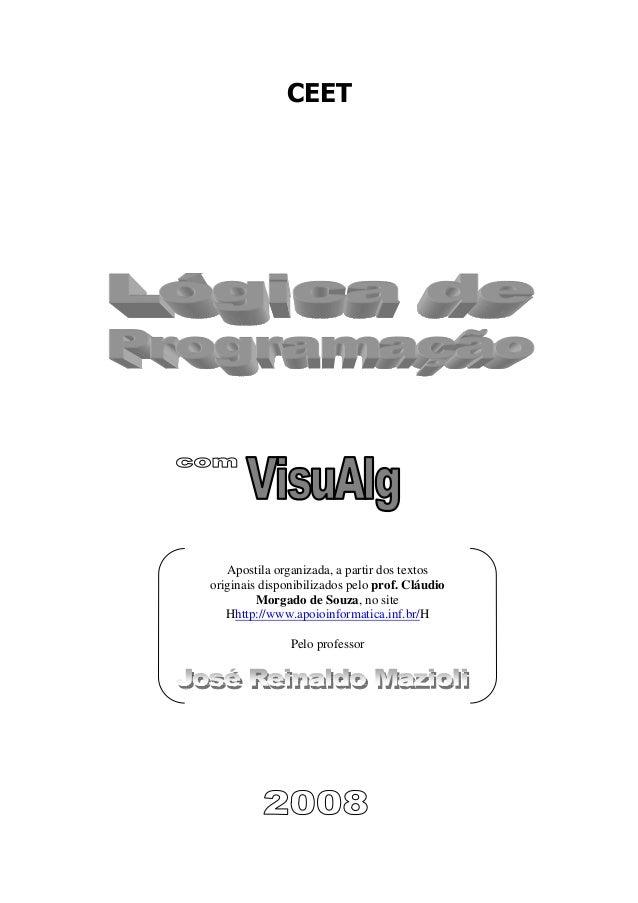 CEETApostila organizada, a partir dos textosoriginais disponibilizados pelo prof. CláudioMorgado de Souza, no siteHhttp://...