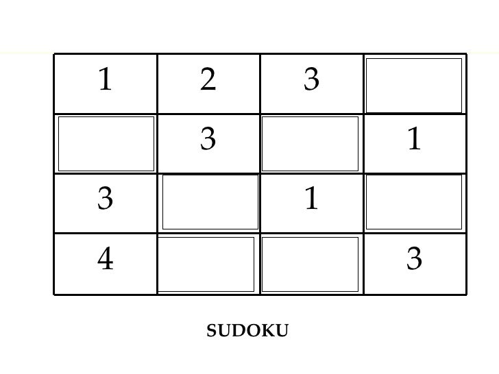 SUDOKU 3 4 1 3 1 3 3 2 1