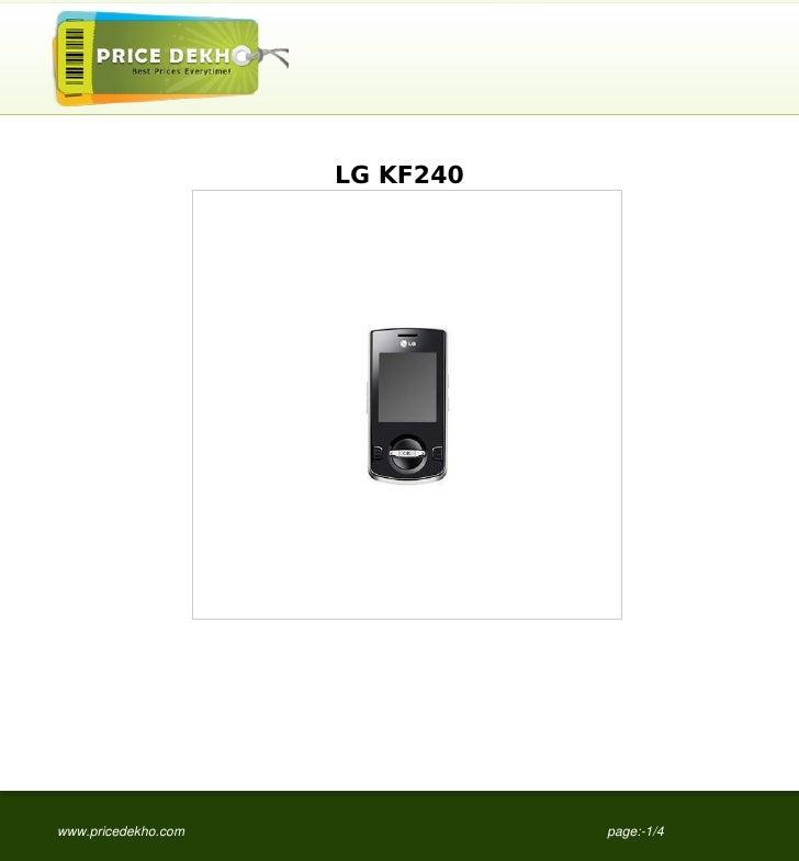 LG KF240www.pricedekho.com              page:-1/4