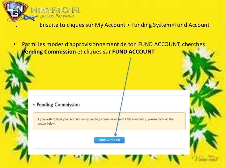 .                Ensuite tu cliques sur MyAccount > Funding System>FundAccount<br />Parmi les modes d'approvisionnement de...
