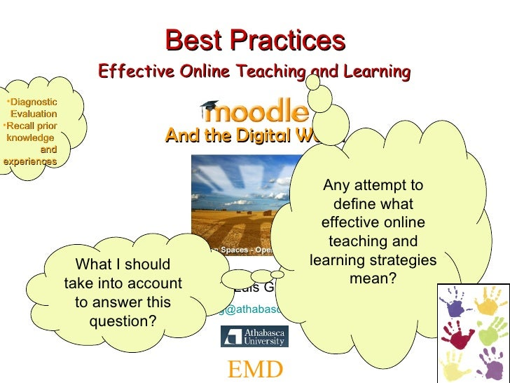 Best Practices Presenter: Luis Guadarrama   [email_address] EMD And the Digital World Effective Online Teaching and Learni...