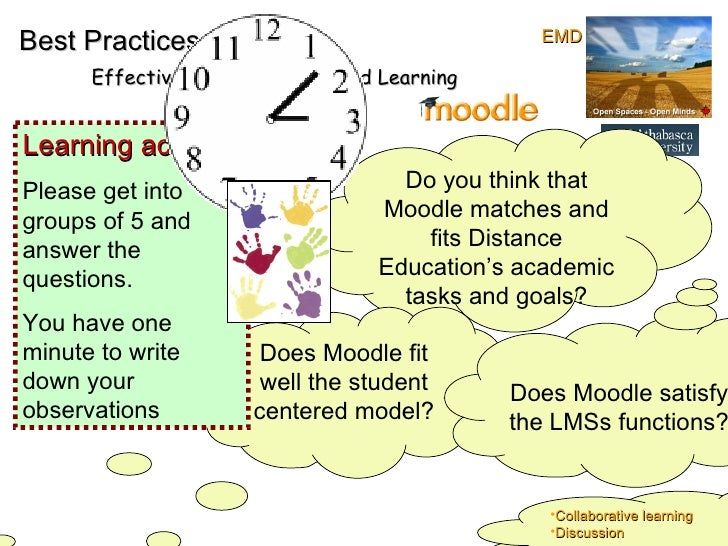 Best Practices Effective online Teaching and Learning Do you think that Moodle matches and fits Distance Education's acade...