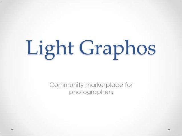 Light Graphos Community marketplace for photographers