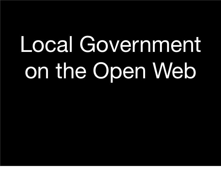 Local Government on the Open Web
