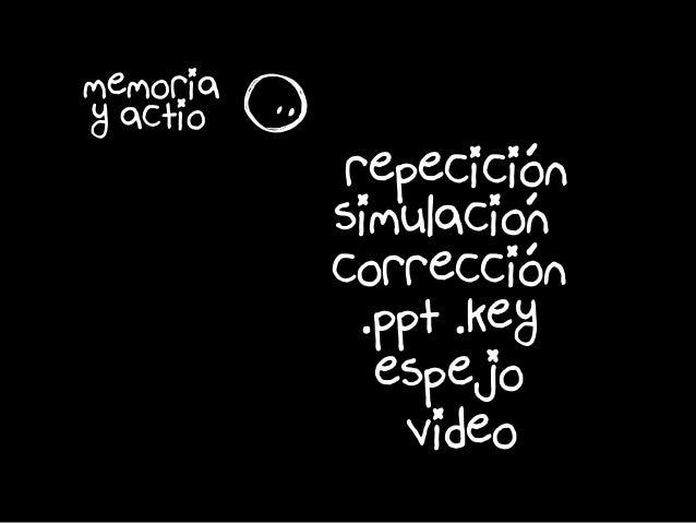 s memoria y actio é é é repecicion simulacion correccion espejo video .ppt .key