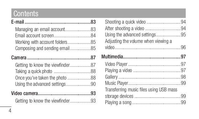 Lg Portable Multimedia Player User Manual