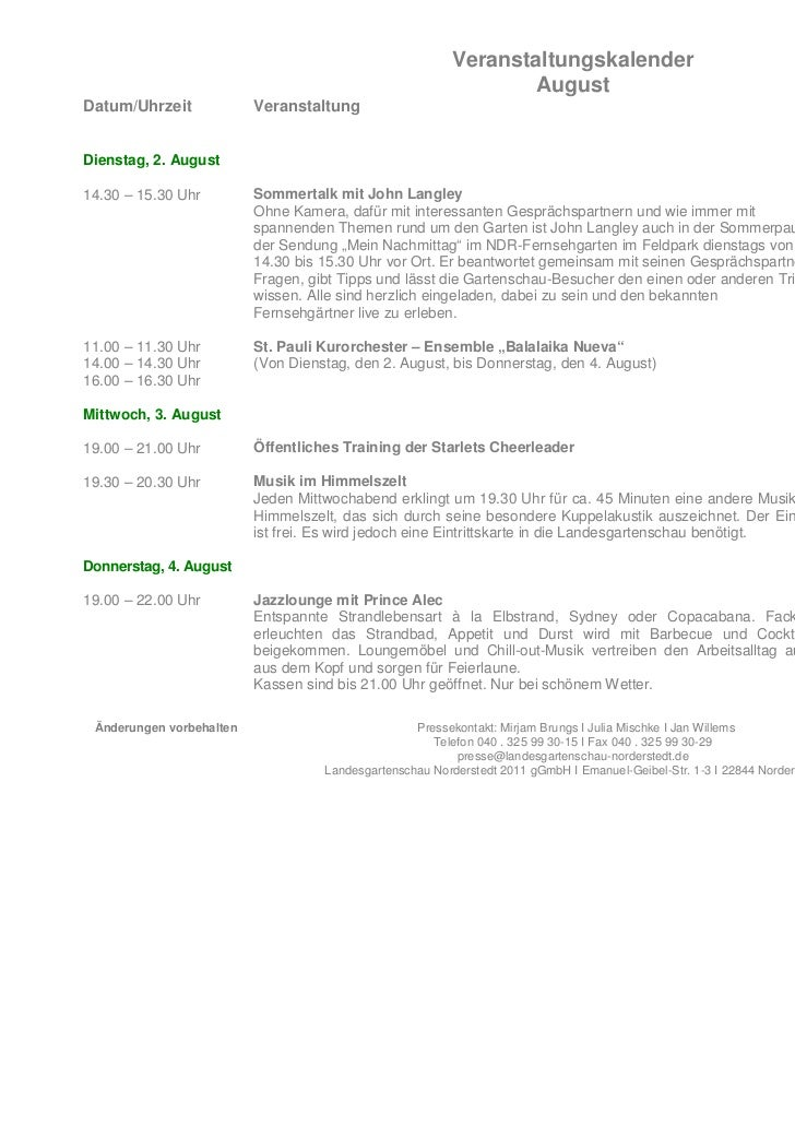 Veranstaltungskalender                                                                  AugustDatum/Uhrzeit             Ve...