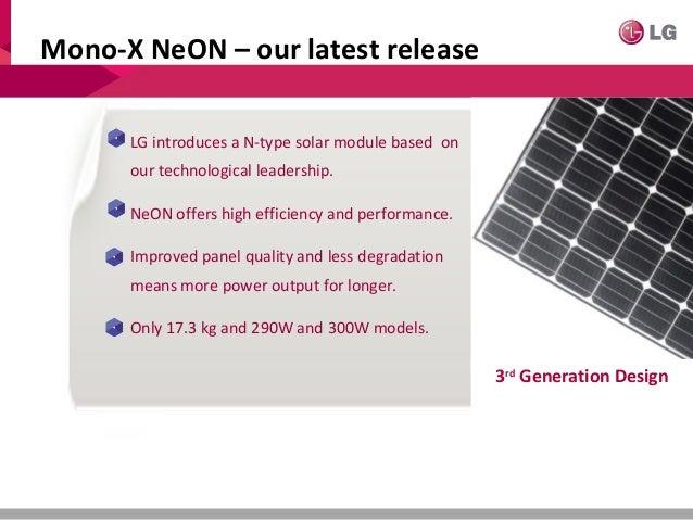 Lg Solar Presentation For Customers