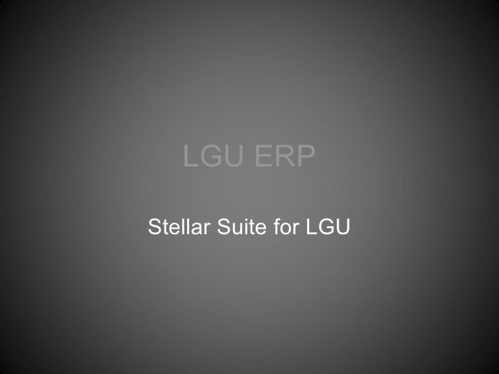 LGU ERP Stellar Suite for LGU